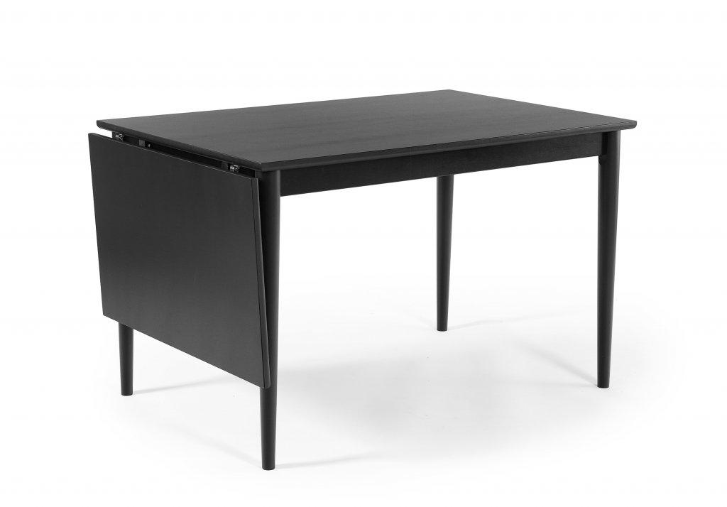 WASA Matbord 120 med klaff svartlack Bord Möbler Folkhemmet com