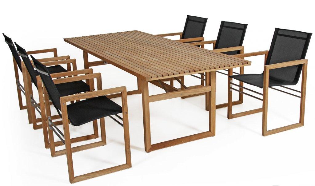Vevi Matbord 230x95cm Teak Matbord Utemöbler Och Trädgårdsmöbler Folkhemmet Com